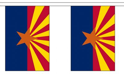 ARIZONA (U.S. STATE) BUNTING - 3 METRES 10 FLAGS